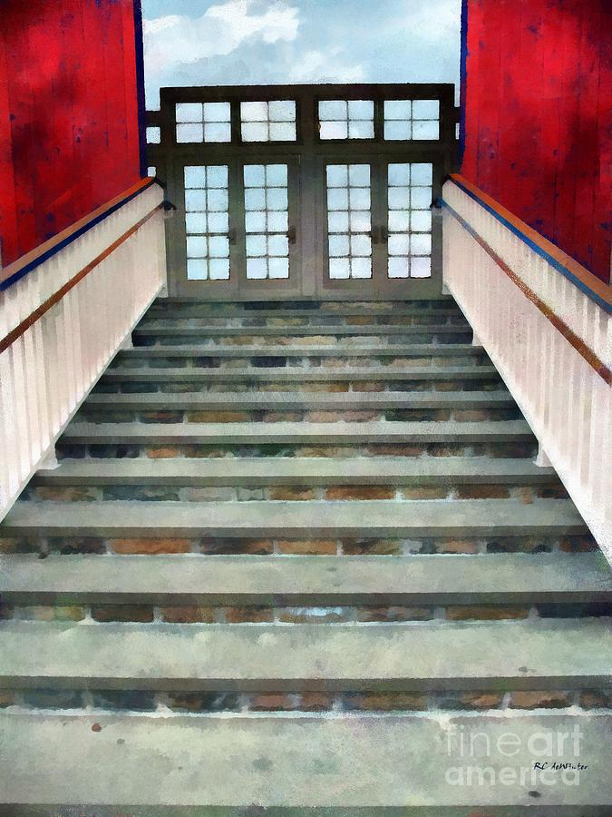 Stairs Painting - Stairs To The Barn by RC DeWinter