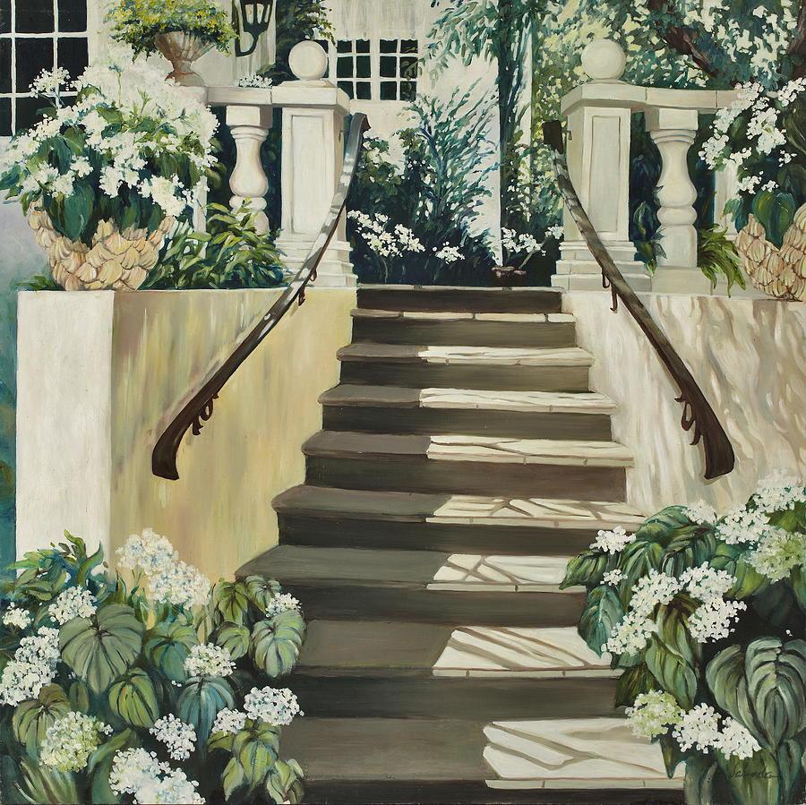 Stairs Painting by Vaunda Hawkins