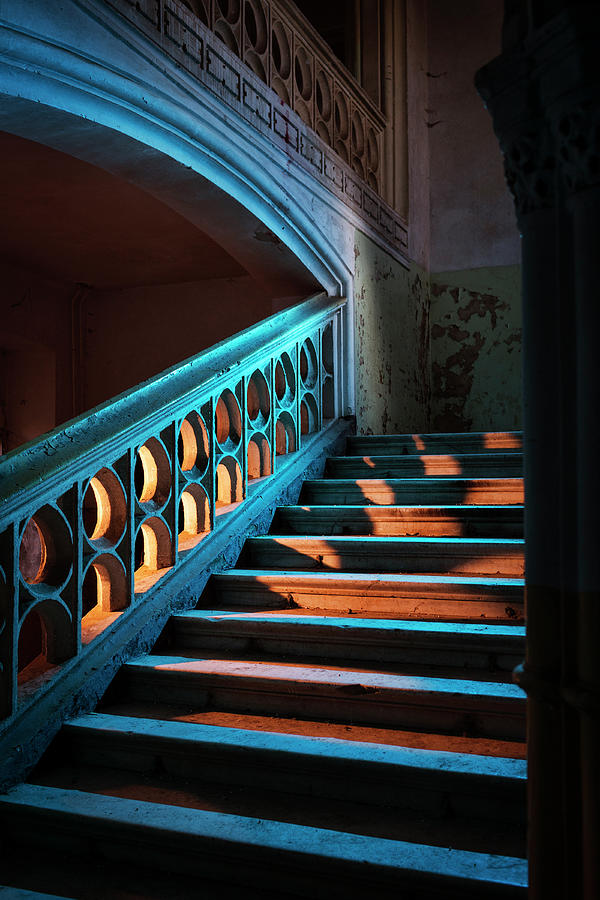 Stairway In Abandoned European Castle Photograph by Matjaz Slanic