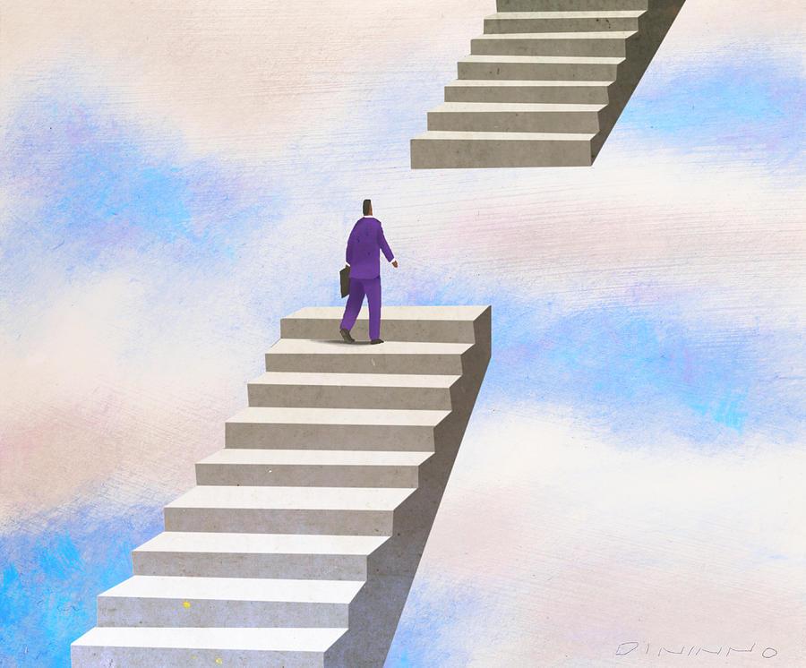 Открытки днем, прикольные лестницы в рисунке