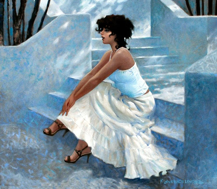 Architecture Painting - Stairway Stop by Kevin Lawrence Leveque