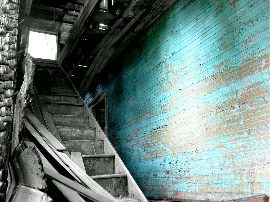 Stairs Photograph - Stairway To Abandoned by Amy Sorrell