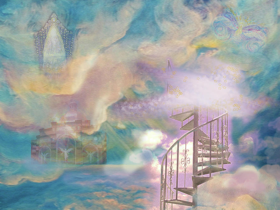 Heaven Painting - Stairway To Heaven by Anne Cameron Cutri