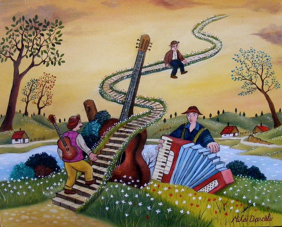 Mihai Dascalu art-米哈伊Dascalu-來自羅馬尼亞藝術家, 被歸類為天真派的術家。。。 - ☆平平.淡淡.也是真☆  - ☆☆milk 平平。淡淡。也是真 ☆☆