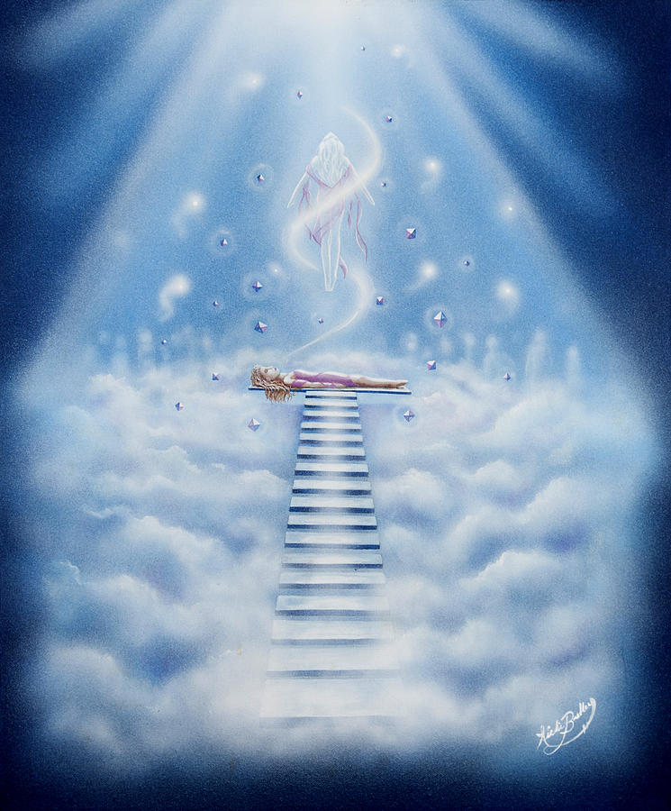 Spiritual Painting - Stairway To Heaven by Nickie Bradley