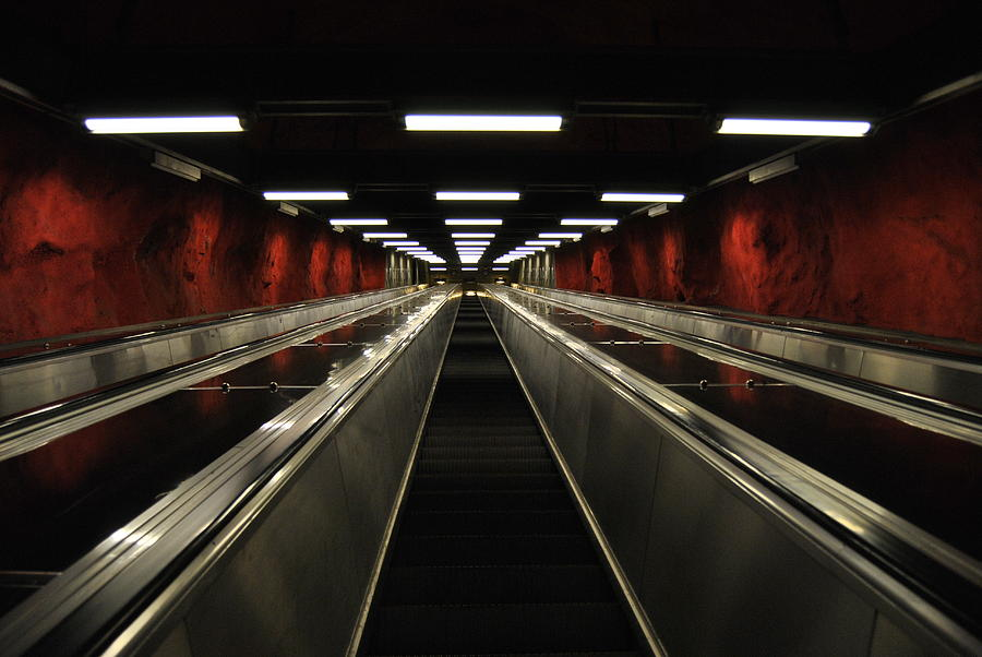 Subway Photograph - Stairway To Red by Frederico Borges