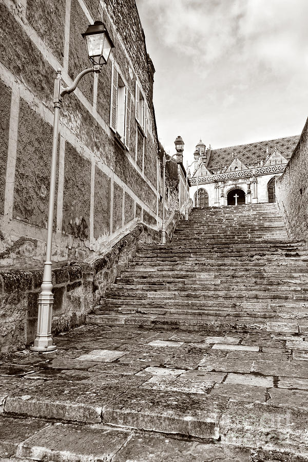 Old Photograph - Stairway To Salvation  by Olivier Le Queinec