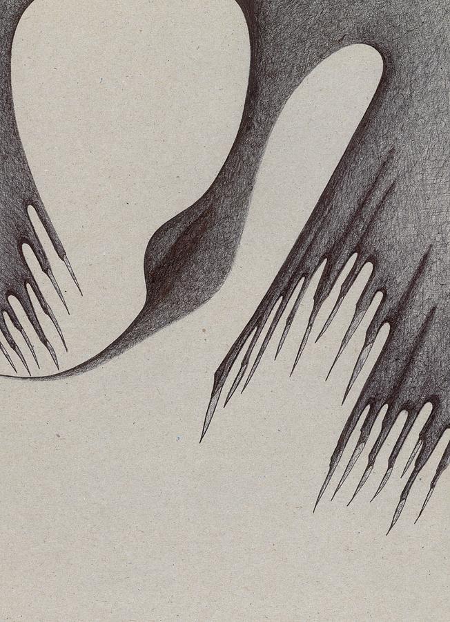 Nature Drawing - Stalactites Overhead by Giuseppe Epifani