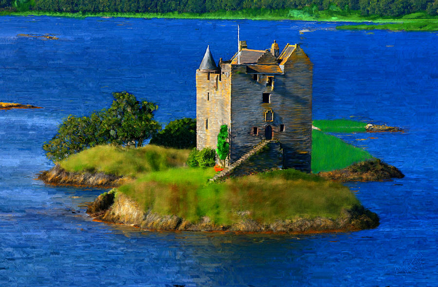 Castle Painting - Stalker Castle Scotland by Bruce Nutting