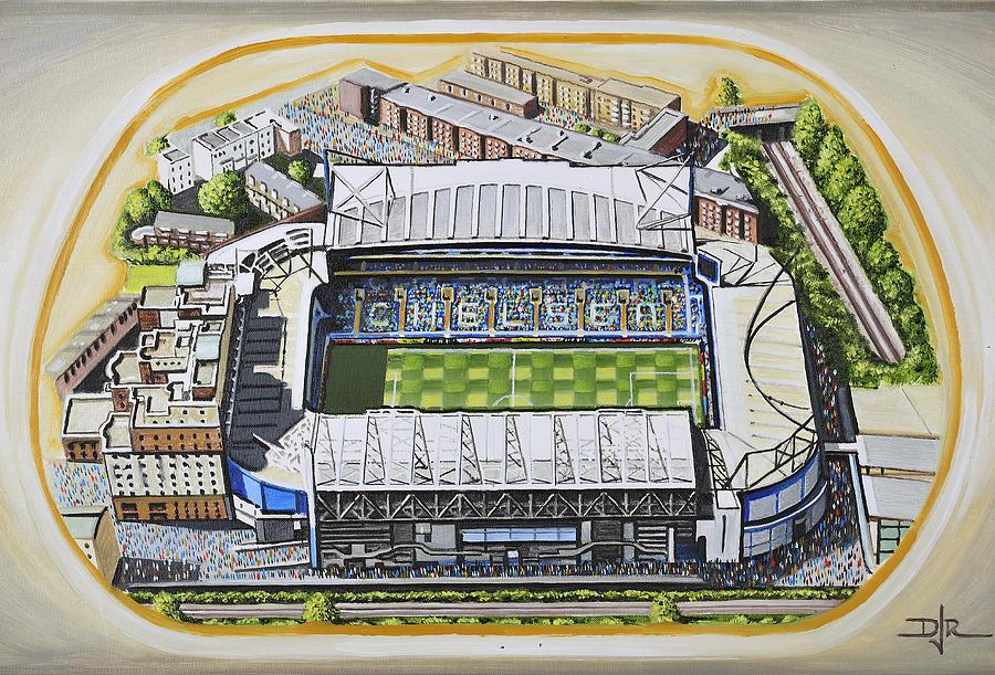 Cfc Painting - Stamford Bridge - Chelsea by D J Rogers