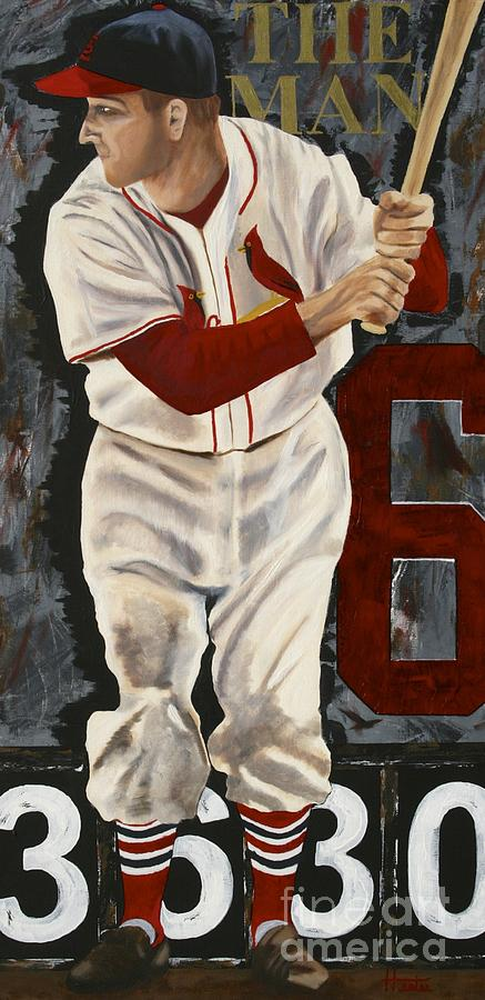 Stan Musial Painting - Stan Musial by Terry  Hester