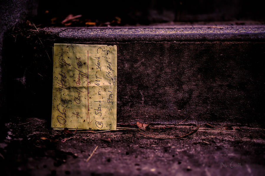 Abstract Photograph - Stand Or Not Stand by Bob Orsillo