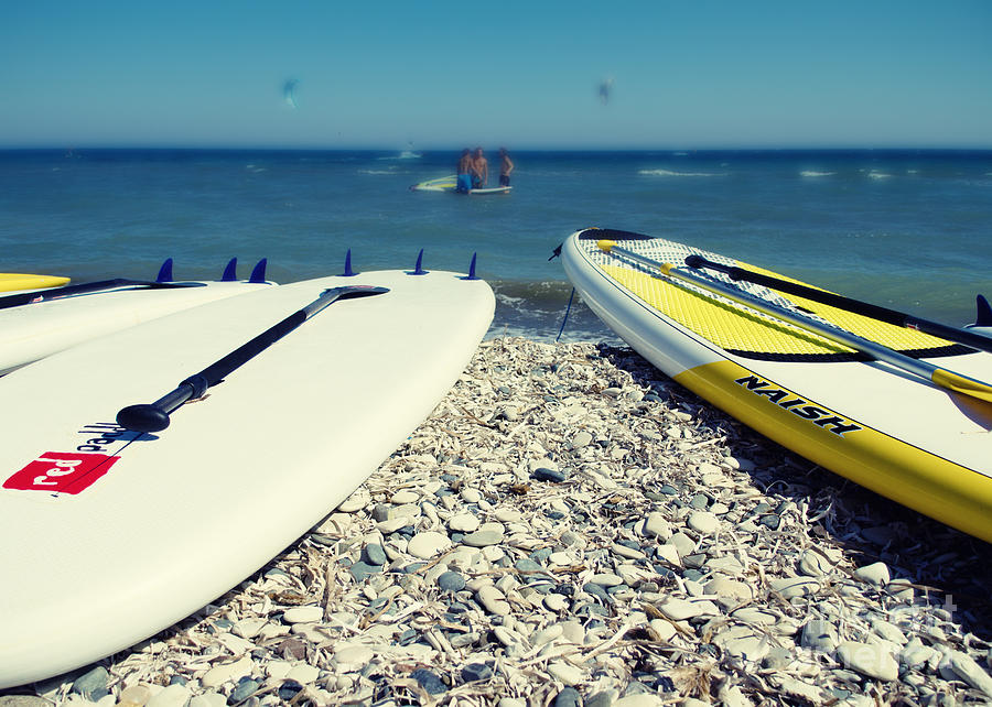 Action Photograph - Stand Up Paddle Boards by Stelios Kleanthous