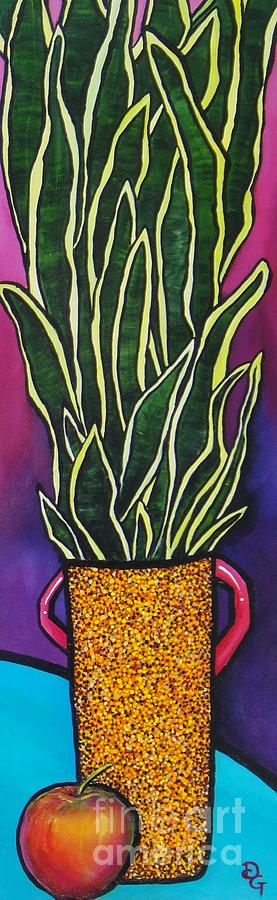 Plant Painting - Stand Up Straight by Deborah Glasgow