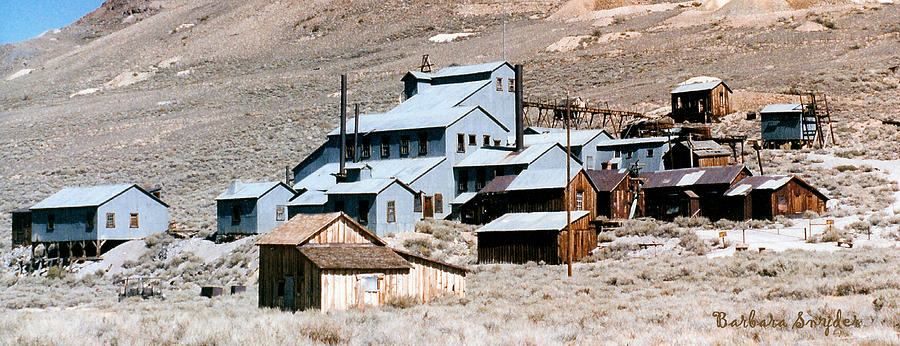 Bodie Digital Art - Standard Mill At Bodie Panorama by Barbara Snyder