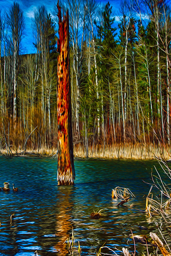 Beaver Painting - Standing Alone by Omaste Witkowski