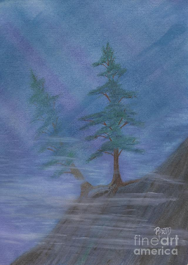 Mist Painting - Standing Alone by Robert Meszaros
