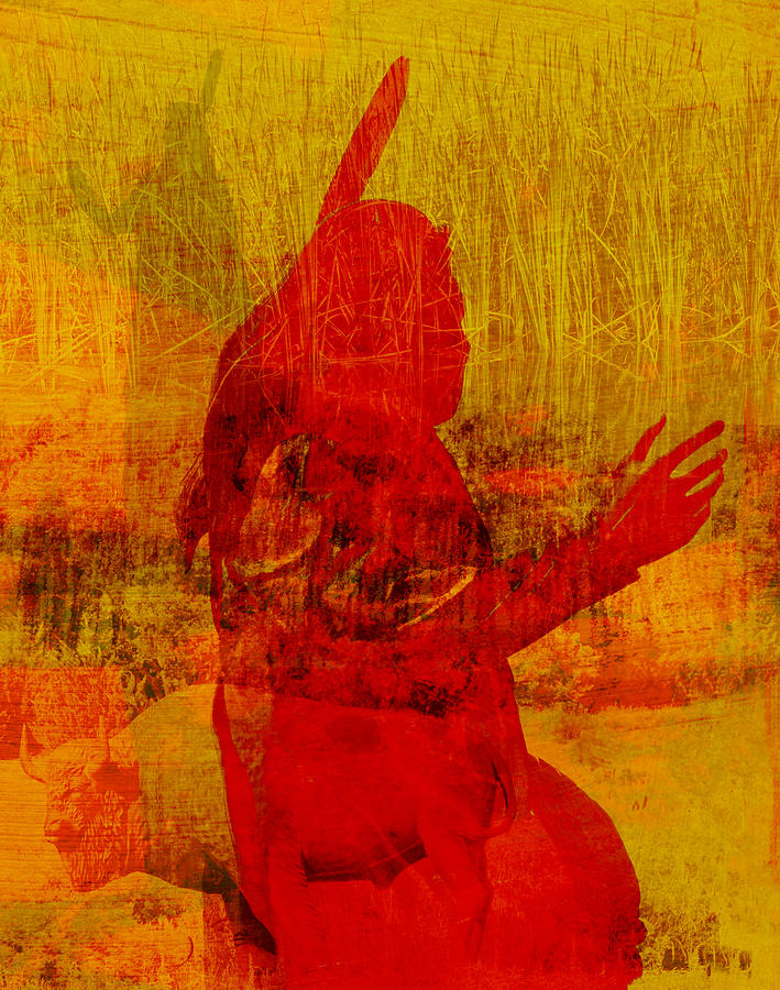 Standing Bear Photograph - Standing Bear Park Abstract Collage by Ann Powell