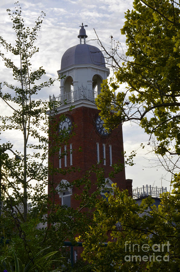 Courthouse Photograph - Standing In Time by Debra Johnson