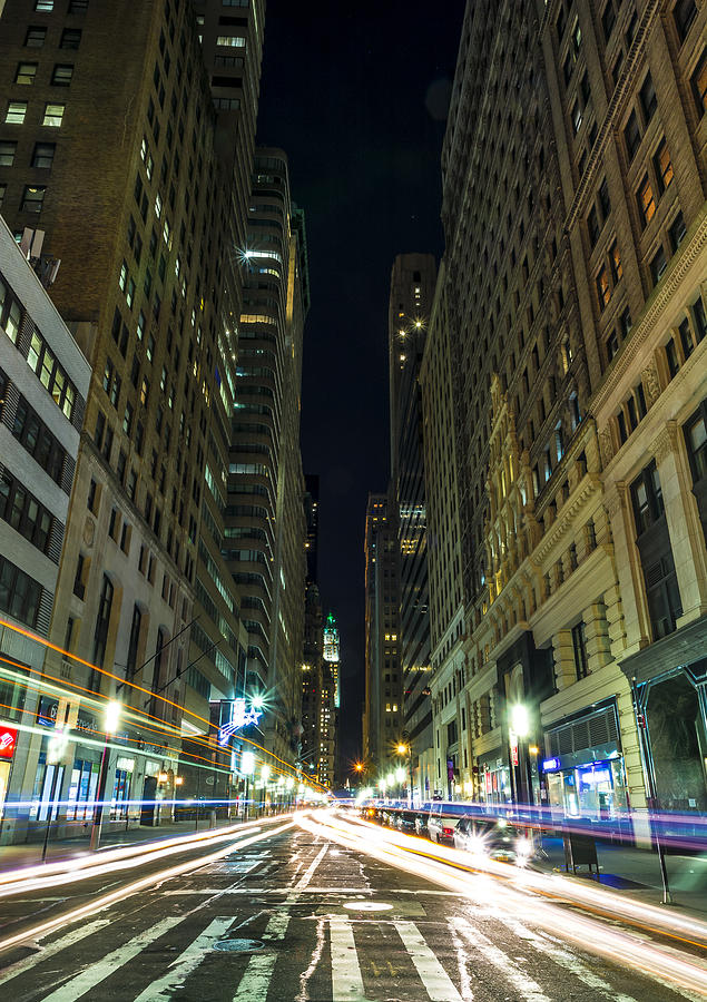 Standing In Traffic In New York City Photograph