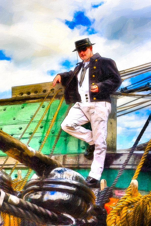 Uss Constitution Photograph - Standing On The Deck Of Old Ironsides by Mark Tisdale