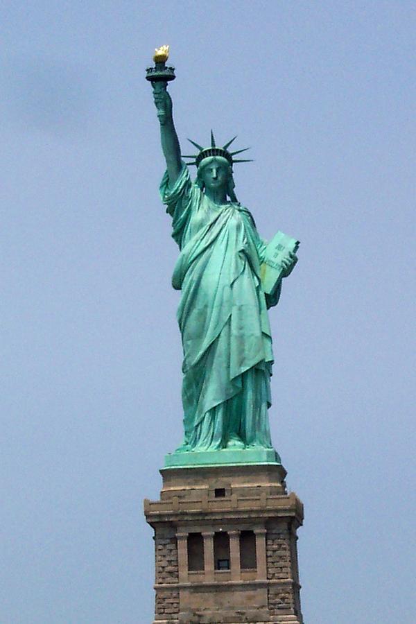 Statue Of Liberty Photograph - Standing Proud by Pamela Schreckengost
