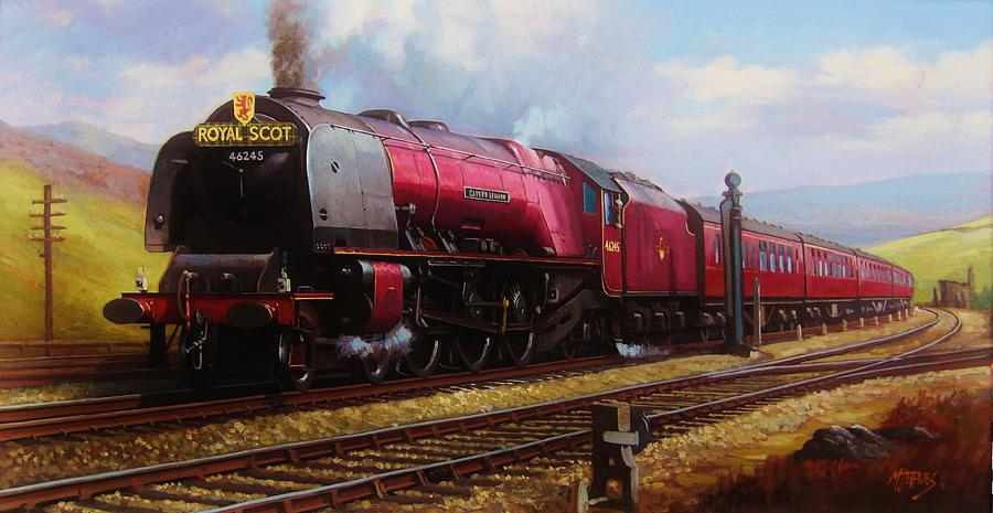 Pacific Painting - Stanier Pacific On Shap. by Mike Jeffries