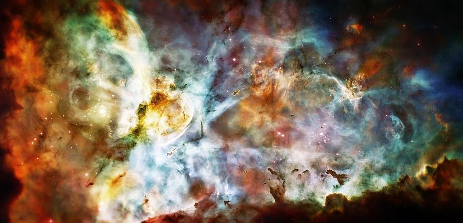 Universe Photograph - Star Birth In The Carina Nebula  by Jennifer Rondinelli Reilly - Fine Art Photography