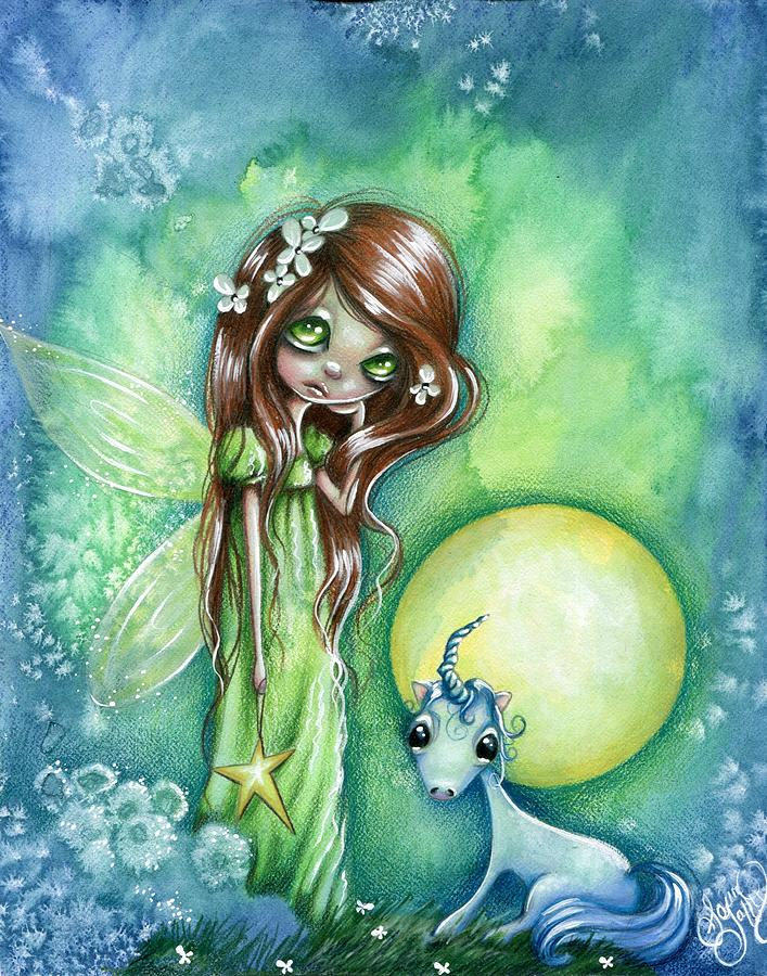 Whimsical Drawing - Star Bright by Sour Taffy