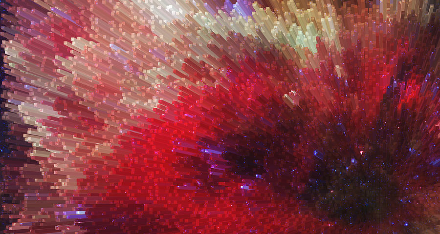 Prints Painting - Star Burst - Red Abstract Art By Sharon Cummings by Sharon Cummings