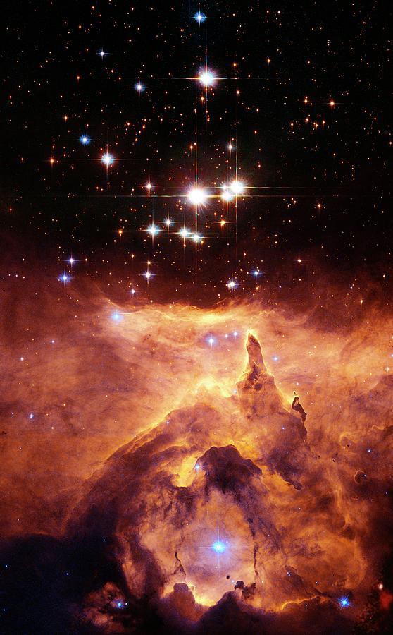 Ngc 6357 Photograph - Star Cluster Pismis 24 Above Ngc 6357 by J. Maiz Apellaniz, Iaanasaesastsci