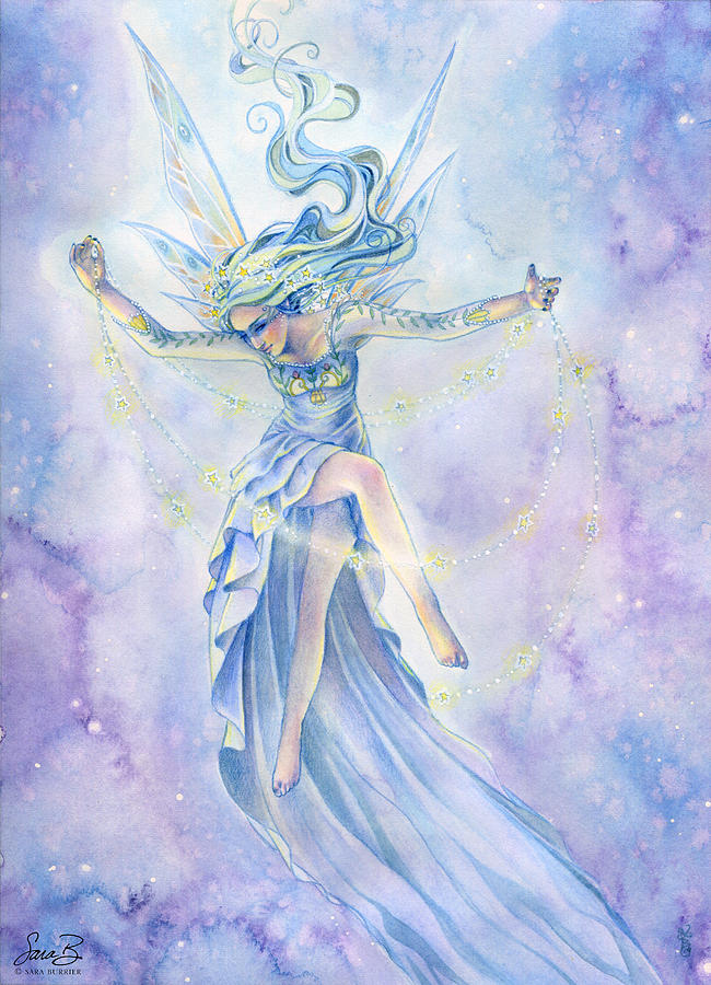 Fairy Painting - Star Dancer by Sara Burrier