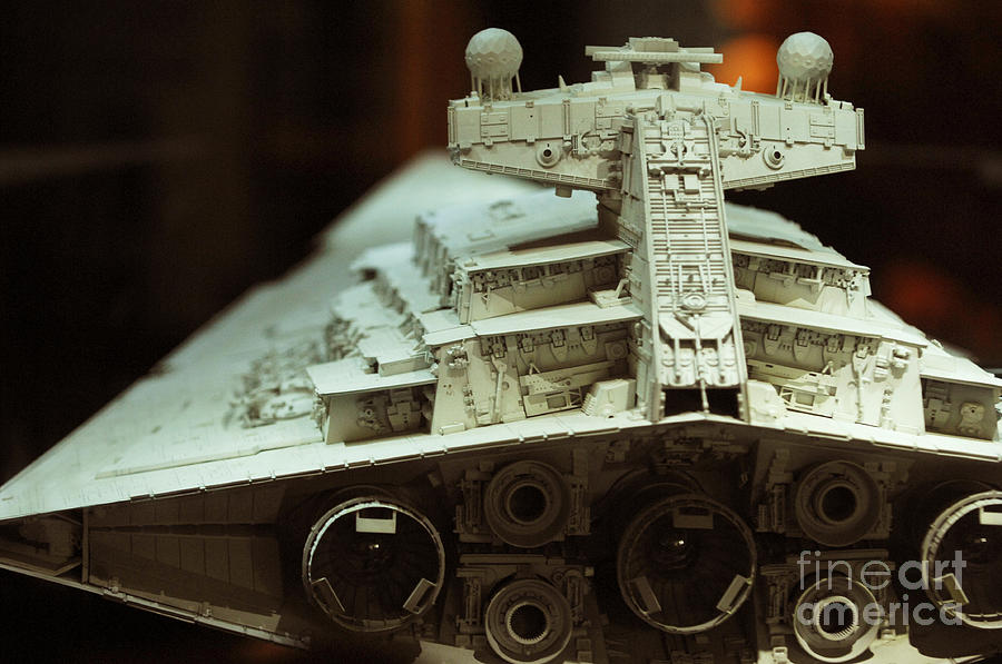 Fighter Photograph - Star Destroyer Maquette by Micah May