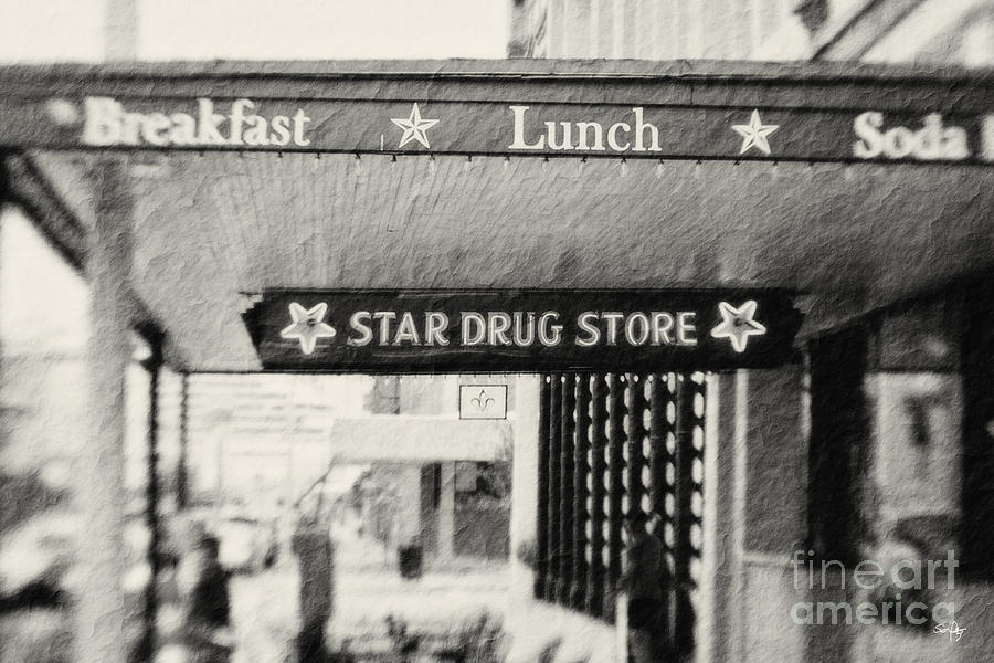 Texture Photograph - Star Drug Store Marquee by Scott Pellegrin