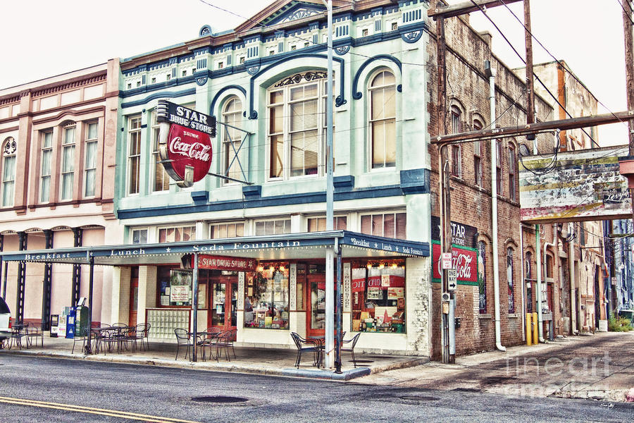 Hdr Photograph - Star Drug Store - Store Front by Scott Pellegrin