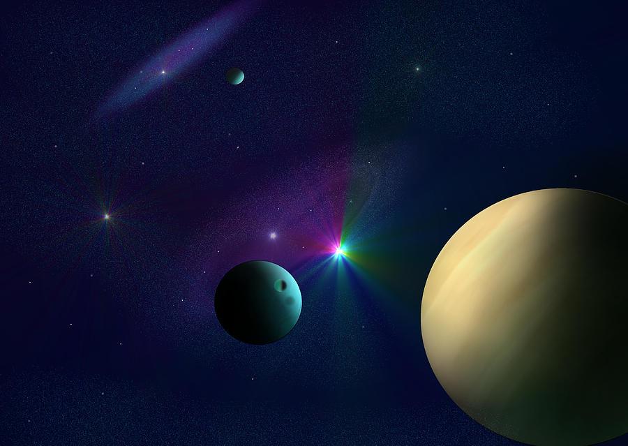 Planets Digital Art - Star Dust by Ricky Haug