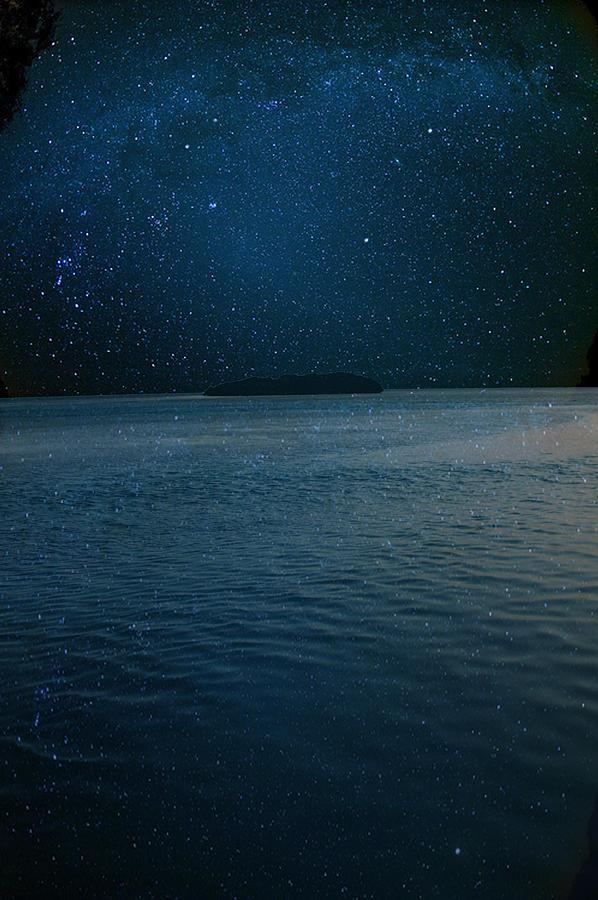 Night Photograph - Star Island by AR Annahita