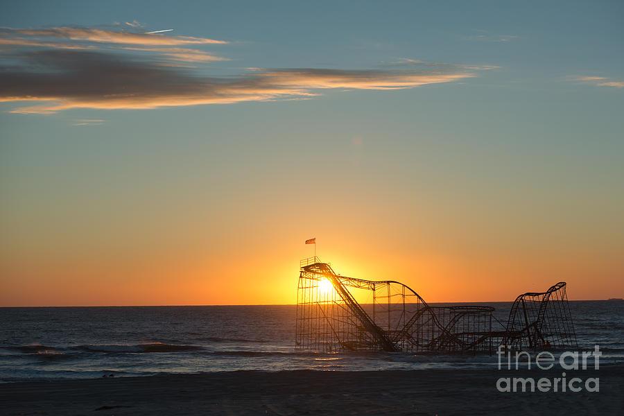 Mikeversprill.com Photograph - Star Jet Sunrise Silhouettte by Michael Ver Sprill