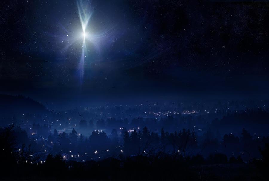 Star of Bethlehem Night Sky Photograph by RyanJLane