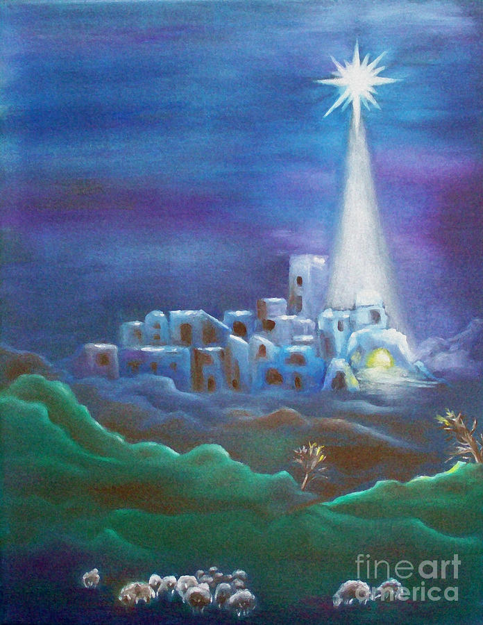 Star Over Bethlehem-holy Night. I painted this little painting to make  Christmas ... d0b53ffae