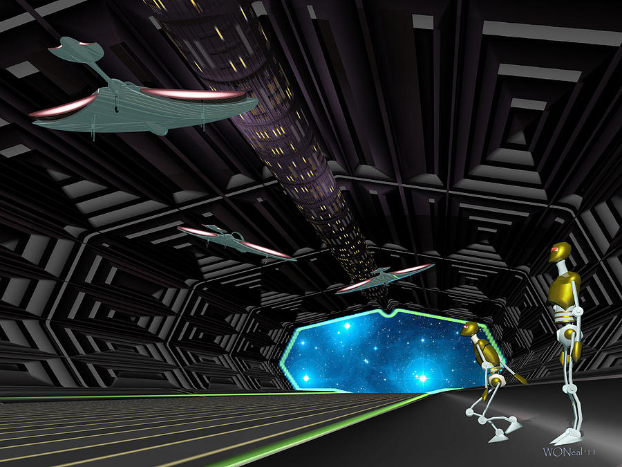 Science Fiction Digital Art - Star Ship Chamber Landing by Walter Oliver Neal