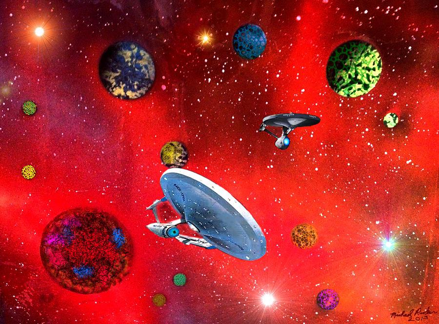 Star Trek Painting - Star Ships by Michael Rucker