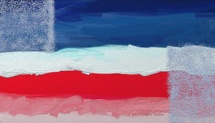Abstract Digital Art - Star Spangled American Landscape by Lenore Senior