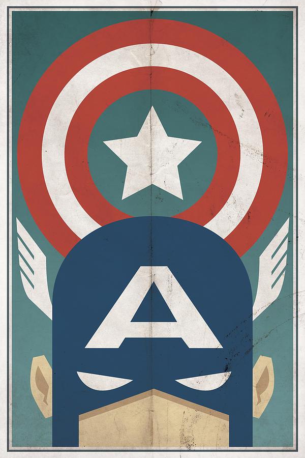 Hero Digital Art - Star-Spangled Avenger by Michael Myers