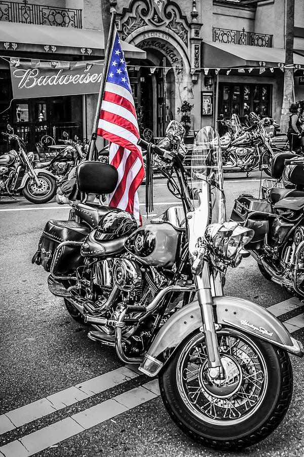 Star Spangled Harley Photograph