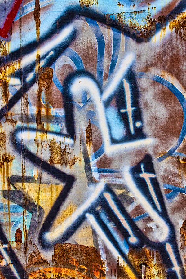 Graffiti Photograph - Star Train Graffiti by Carol Leigh