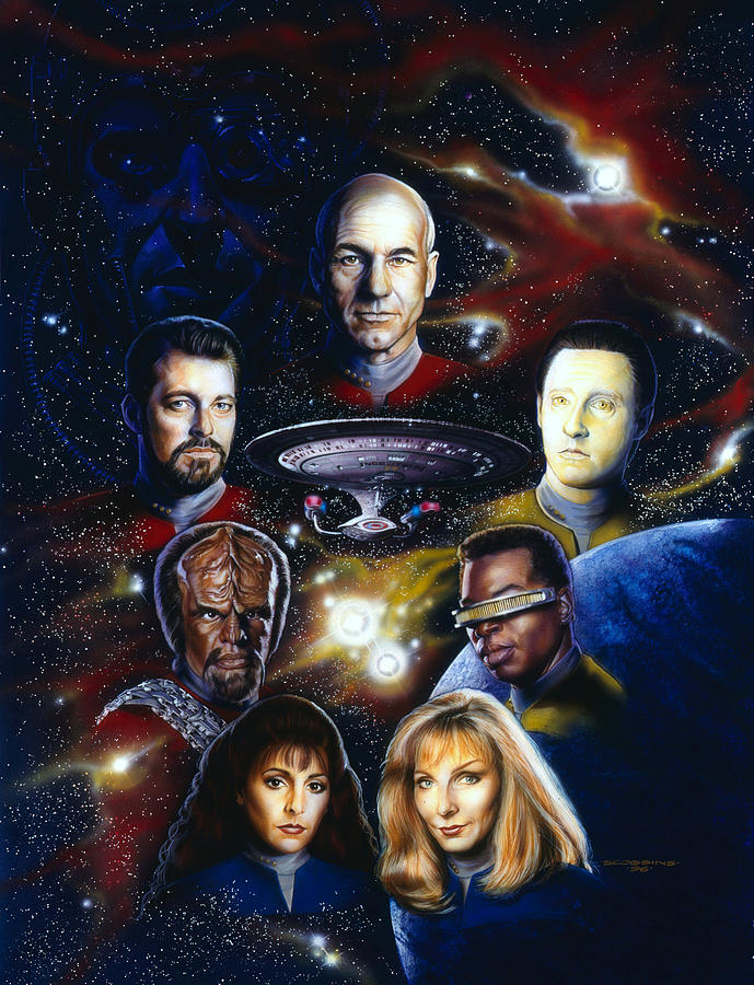 Star Trek Painting - Star Trek Tng by Timothy Scoggins