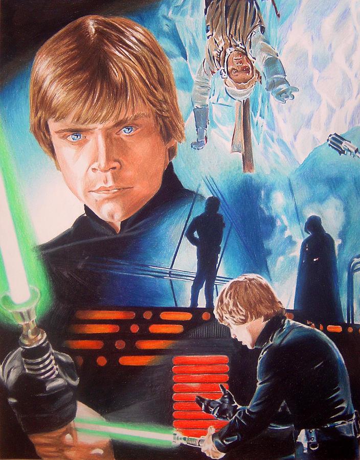 Star Wars Luke Skywalker Painting By Joseph Christensen
