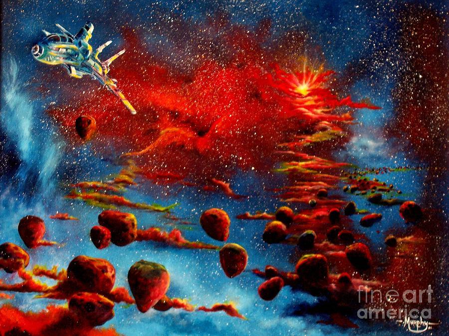 Nova Painting - Starberry Nova Alien Excape by Murphy Elliott