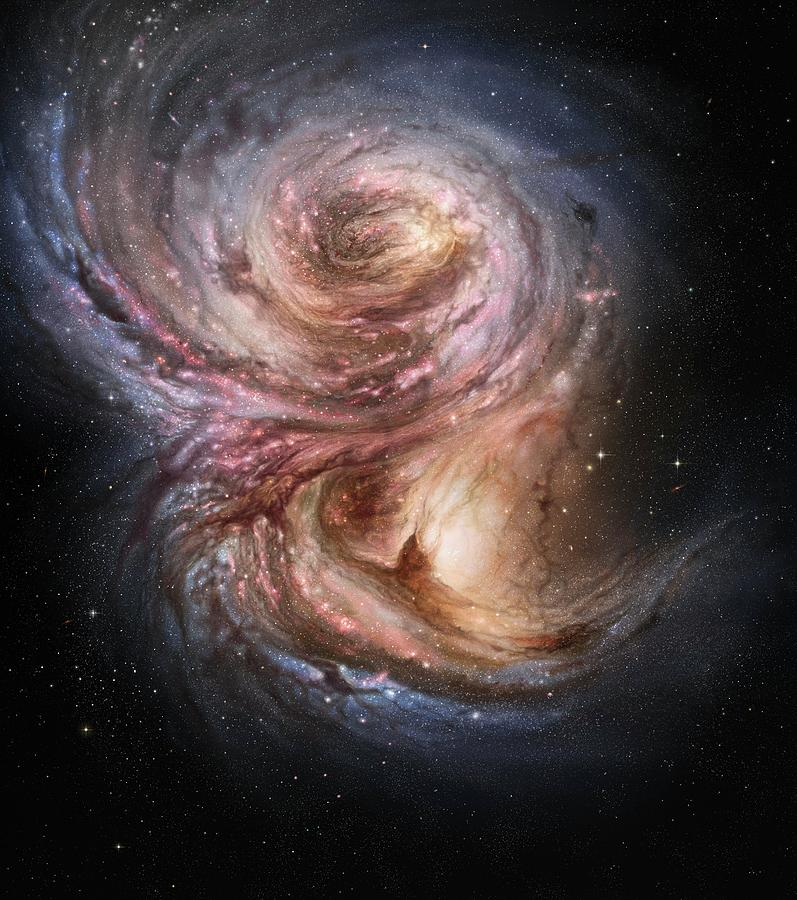 Star Photograph - Starbirth In A Distant Galaxy by M. Kornmesser/european Southern Observatory/science Photo Library